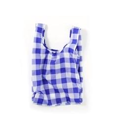 [바쿠백] 소형 베이비 에코백 장바구니 Big Check Blue_(1645649)