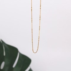 (92.5 silver) dots chain necklace