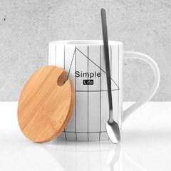 MODERN CAFE WOOD DAILY 머그컵 우드캡 티스푼 포함