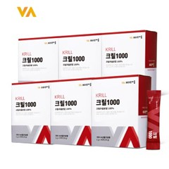 VV 크릴오일 1000 분말 스틱 6박스 총 180포 (30포X6박스)