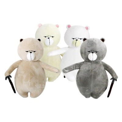 정품 원피스 곰 하이킹베어 봉제인형 4종 30cm_(1820545)