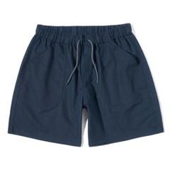 Linen Half Pants Navy