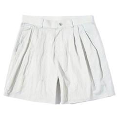 Two Tuck Half Pants Gray