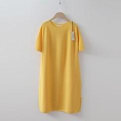 Hoega Linen Puff Knit Dress - 반팔