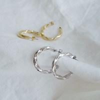 오픈 트위스트 후프 귀걸이 open twist hoop (2col)