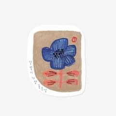 달맞이꽃 스티커(5장,낱개로 10개)