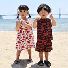 수박 아동 남매룩