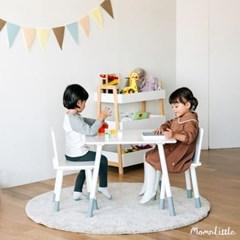 맘앤리틀 화이트 스퀘어 원목 유아 책상 의자 세트