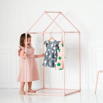 [쁘띠메종] 하우스 키즈옷장 핑크 2size