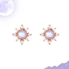 [6월탄생석] 달빛을 담은 은은한 문스톤 실버 귀걸이 CLER19675PPW