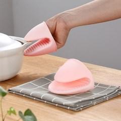 파스텔 실리콘 냄비 손잡이 2pcs