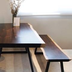 마루이 뉴송 투톤 우드슬랩 식탁테이블 2100