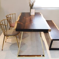 마루이 뉴송 투톤 우드슬랩 식탁테이블 1500