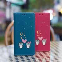 갤럭시S8 (G950) Ventosa-Owls 수제 지갑 다이어리 케이스