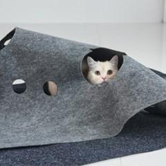 세븐펫 숨숨매트+숨숨집 고양이장난감 다용도 놀이터