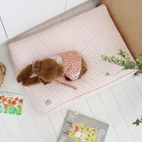 꿀잠쿠션-핑크달링체크