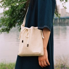 picnic mini bucket bag - natural color