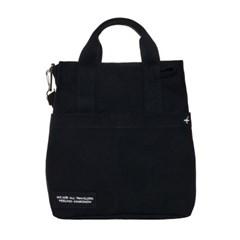 VIAMONOH DAILY CANVAS SHOULDER BAG (BLACK) 에코백 토_(1049044)