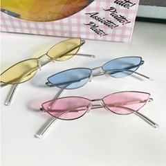 90s Half Circle Clear Glasses 레트로하프서클선글라스
