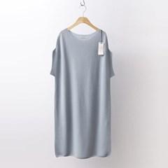 Hoega Cotton Knit Dress - 반팔