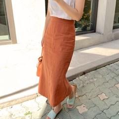 Snug linen midi skirt_S (린넨 100%)_(1343475)