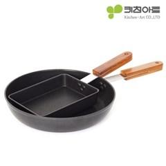 키친아트 FORT 인덕션 후라이팬 2종(사각+28후라이팬)