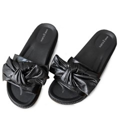 kami et muse Tied over ribbon daily slippers_KM19s246