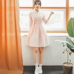 서리나래 핑크셔츠 철릭원피스
