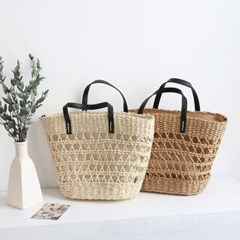 Rattan City Tote Bag - 어깨끈 포함