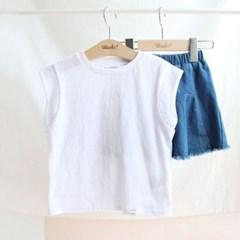 넓은 단 아동 민소매 티셔츠 IB2EV620U