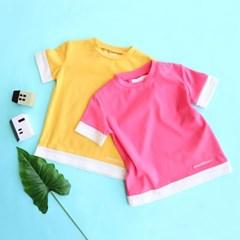배색 기본 아동 반팔 티셔츠 IB2CH509U