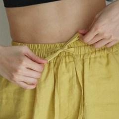 Linen string pants. citrine