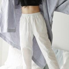 Cotton string pants. white