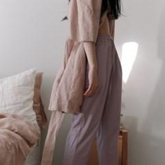 Cotton string pants. lilac