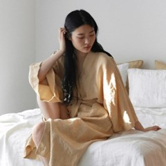 French linen Robe. cream