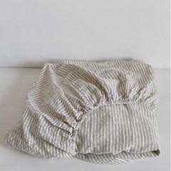 French mattress cover gray stripe