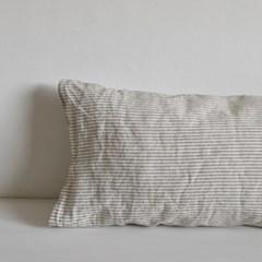 French linen pillow Gray stripe