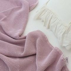 꿀잠 모달와플 피그먼트 이불 겸용 패드 스프레드 - 퍼플
