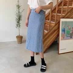 Standard check midi skirt_S_(1345925)