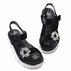 kami et muse Cubic point velcro strap platform sandals_KM19s249