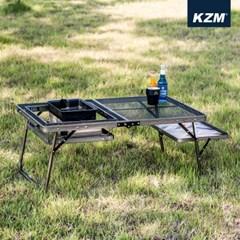카즈미 아이언메쉬 로우 BBQ테이블 II K9T3U003 / 캠핑테이블