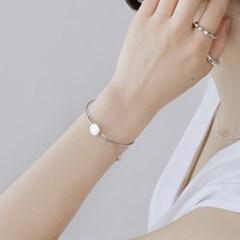 (92.5 silver) flat circle bangle