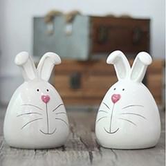 하트코 토끼 저금통 2color