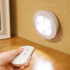 마카롱 접착식 LED조명 3개 리모컨포함