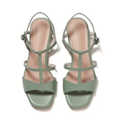 Wave T-strap Flat Sandle mint_2cm(소가죽)