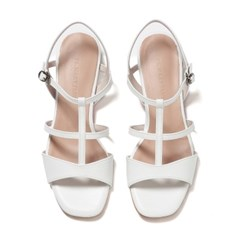 Wave T-strap Flat Sandle white_2cm(소가죽)