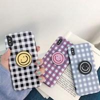 체크 스마일 스마트톡 아이폰 케이스