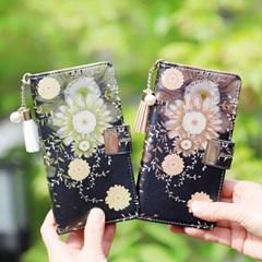 LG X6 2019 (LG X625) Encanto-Chic2-T 지퍼 지갑 다이어리 케이스