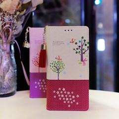 LG X6 2019 (LG X625) Ventosa-Fortune-T 수제 지갑 다이어리 케이스