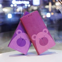 LG X6 2019 (LG X625) Ventosa-Bear 수제 지갑 다이어리 케이스